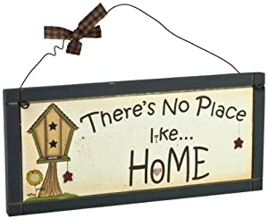 Heartwarmers Ltd Sentimental Wooden No Place Like Home Plaque Sign