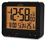 Acctim 71413 Madera Alarm Clock, Black, LCD, Radio Controlled