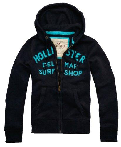 Hollister Men's Waffle Lined Sweatshirt, Large, Navy