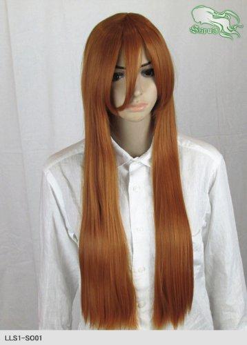 スキップウィッグ 魅せる シャープ 小顔に特化したコスプレアレンジウィッグ フェアリーロング オレンジブラウン