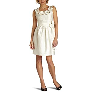 Amazon.com: Suzi Chin Women's Jeweled Ruffle Collar Dress: Clothing from amazon.com