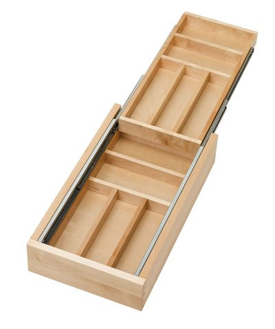 Rev-A-Shelf RS4WTCD.15.1 Two Tiered Wood Cutlery Trays