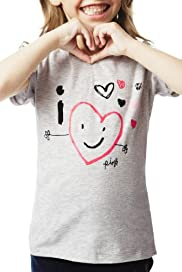 Pure Cotton Heart Print T-Shirt [T77-5949E-Z]