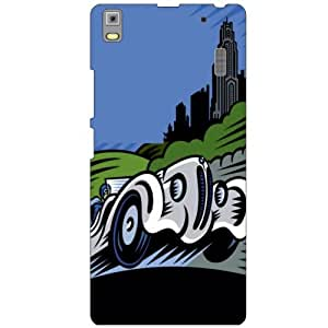 Lenovo A7000 PA030023IN Back Cover - Fast Wheel Designer Cases