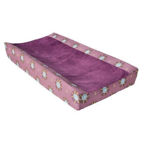 Mudhut Changing Pad Cover in Mul Pur Print