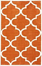 nuLOOM Cine Collection Contemporary Fez Hand Made Trellis Area Rug, 3-Feet 6-Inch by 5-Feet 6-Inch, Copper