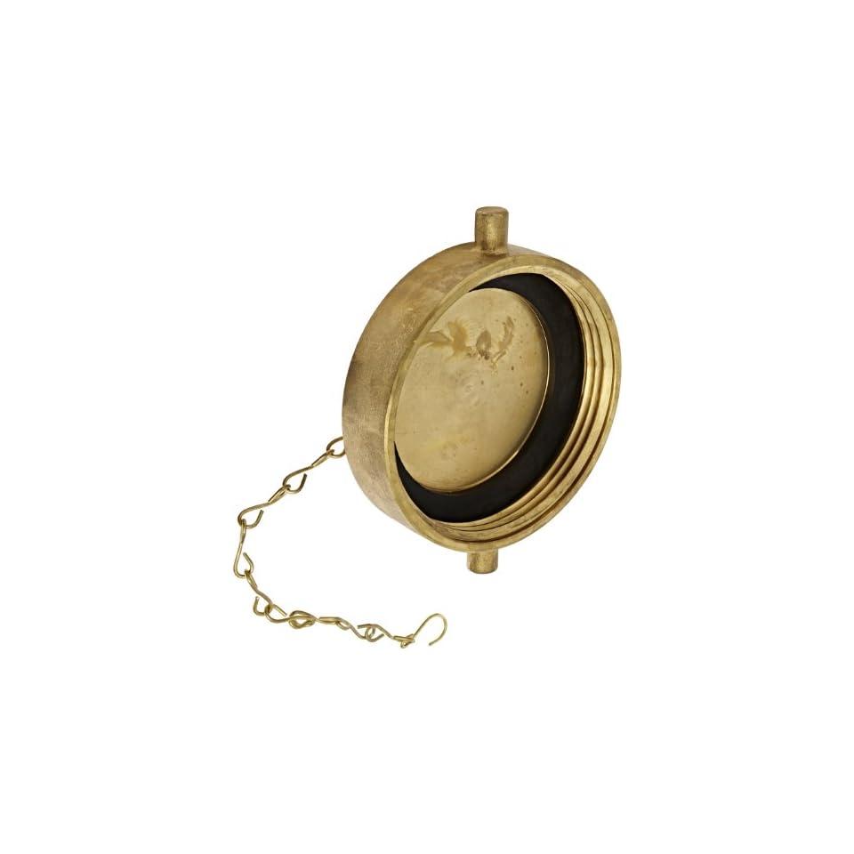 Moon 662 4521 Brass Fire Hose Fitting, Cap, 4 1/2 NH Cap