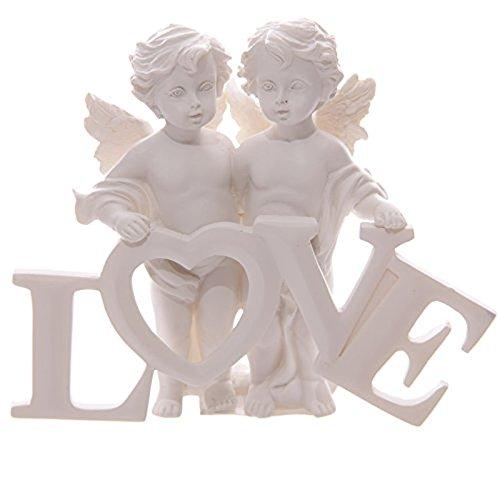 Angel Cherubs Holding Love Letters Ornament Figure Mothers Nana Grandma Gran Gift Present