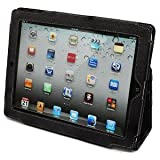 Snugg iPad 2 Case - Smart Cover with Flip Stand & Lifetime Guarantee (Black Leather) for Apple iPad 2