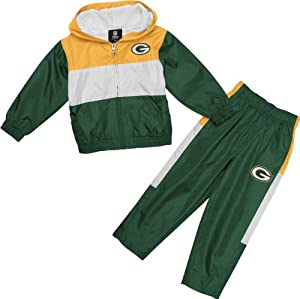 Green Bay Packers Infant Tri-Color Full Zip Hoodie & Pant Set