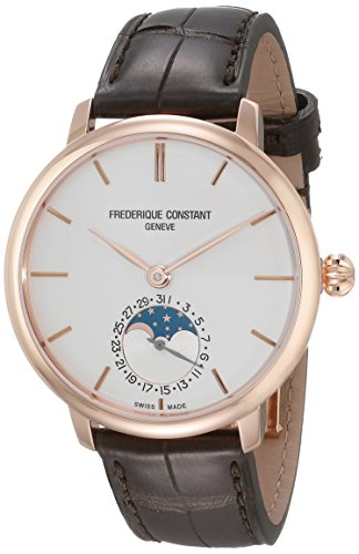 Frederique Constant Slim Line Moonphase Men's 38.8mm Automatic Watch FC703V3S4