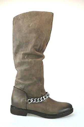 VIC stivali nero beige pelle (36 EU, Beige)