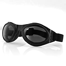 Bobster Bugeye Goggles,Black Frame/Smoked Reflective Lens,one size