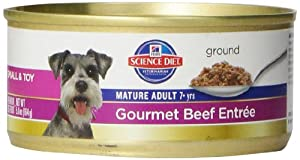 Hill's Science Diet Mature Adult Active Longevity Gourmet Beef Entree Dog Food, 5.8-Ounce Can, 24-Pack