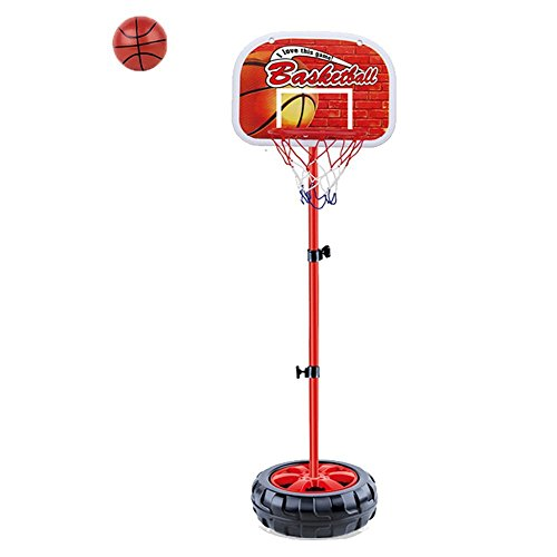 Mini Basketball Toy Metal Adjustable Basketball Set Basketball Stand with Hoop and Net and a Tiny Ball for 3 Years Old and up