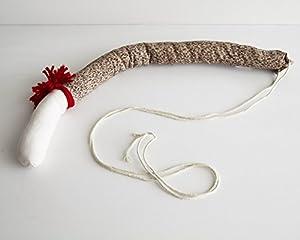 Sock Monkey Cloth Tails - Set of 6