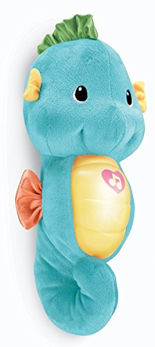 New Baby Fisher Price Ocean Wonders Soothe & Glow Seahorse Blue New front-521407