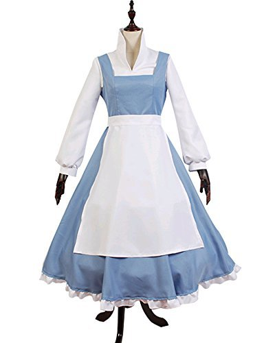 Halloween 2017 Disney Costumes Plus Size & Standard Women's Costume Characters - Women's Costume CharactersBeauty And The Beast Cosplay Costume Princess Belle Village Dress