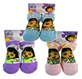 Nick Jr Dora the Explorer Baby Socks Set of 3 Pairs - Various Colors