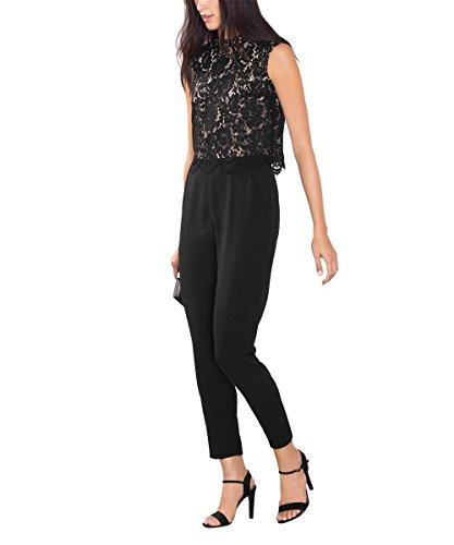 ESPRIT Collection 086EO1L001, Tuta intera Donna, Nero (BLACK), 38