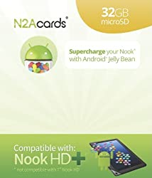 N2A (R) - 32GB Nook to Android 4.1.2 bootable microSD Card for the Nook HD+