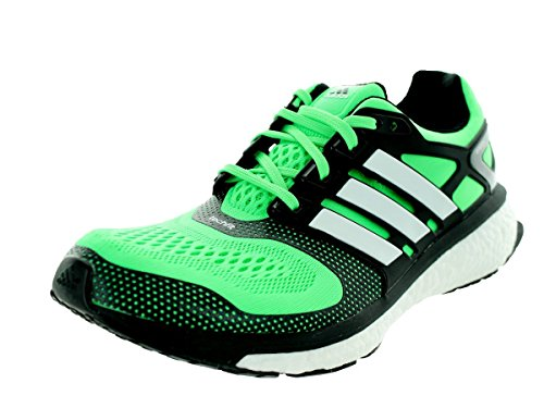 Adidas Men's Energy Boost Esm Flash Green/Black/White Running Shoe 11.5 Men US (Mens Energy Boost compare prices)