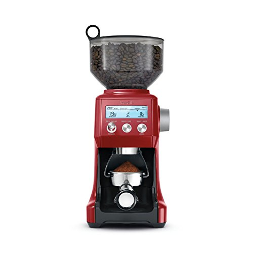 16 OZ, Coffee Bean Capacity with Locking System Coffee Bean Grinder in Cranberry Red