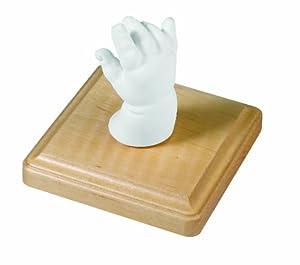 Baby Art 34120004 - Material para molde de pie y mano en 3D, con soporte, color madera natural