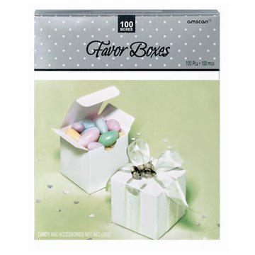 White Favor Boxes 100ct