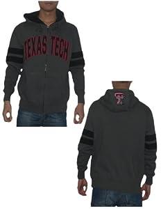 NCAA Texas Tech Red Raiders Mens Warm Athletic Zip-Up Hoodie Jacket by NCAA