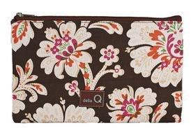 Della Q Small Lily Zip Pouch for Accessories 112-1 Brown Sugar Spice by Della Q