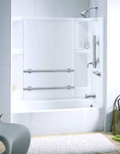 Accord Bath/Shower Kit Base Finish: High Gloss White, Drain Configuration: Left Hand