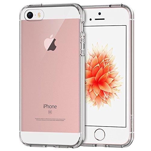 iPhone SE Funda, JETech Slim Fit iPhone 5 5s SE Funda Carcasa Case Bumper con Absorción de Impactos y Anti-Arañazos Espalda Case Cover para Apple iPhone 5/5s/SE (HD Clara) - 0426