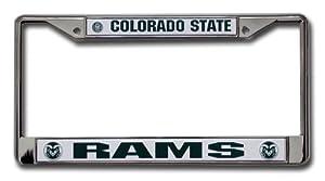 Buy NCAA Colorado State Rams Chrome License Plate Frame by Rico