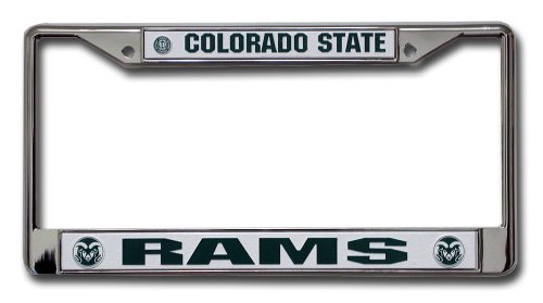 NCAA Colorado State Rams Chrome License Plate Frame