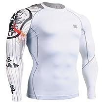 Fixgear Mens Womens Cycling MMA Tight T Shirt Long Sleeve Under Base Layer XL