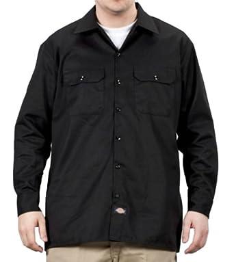 Dickies long sleeve work shirt black at amazon men s for Black long sleeve work shirt