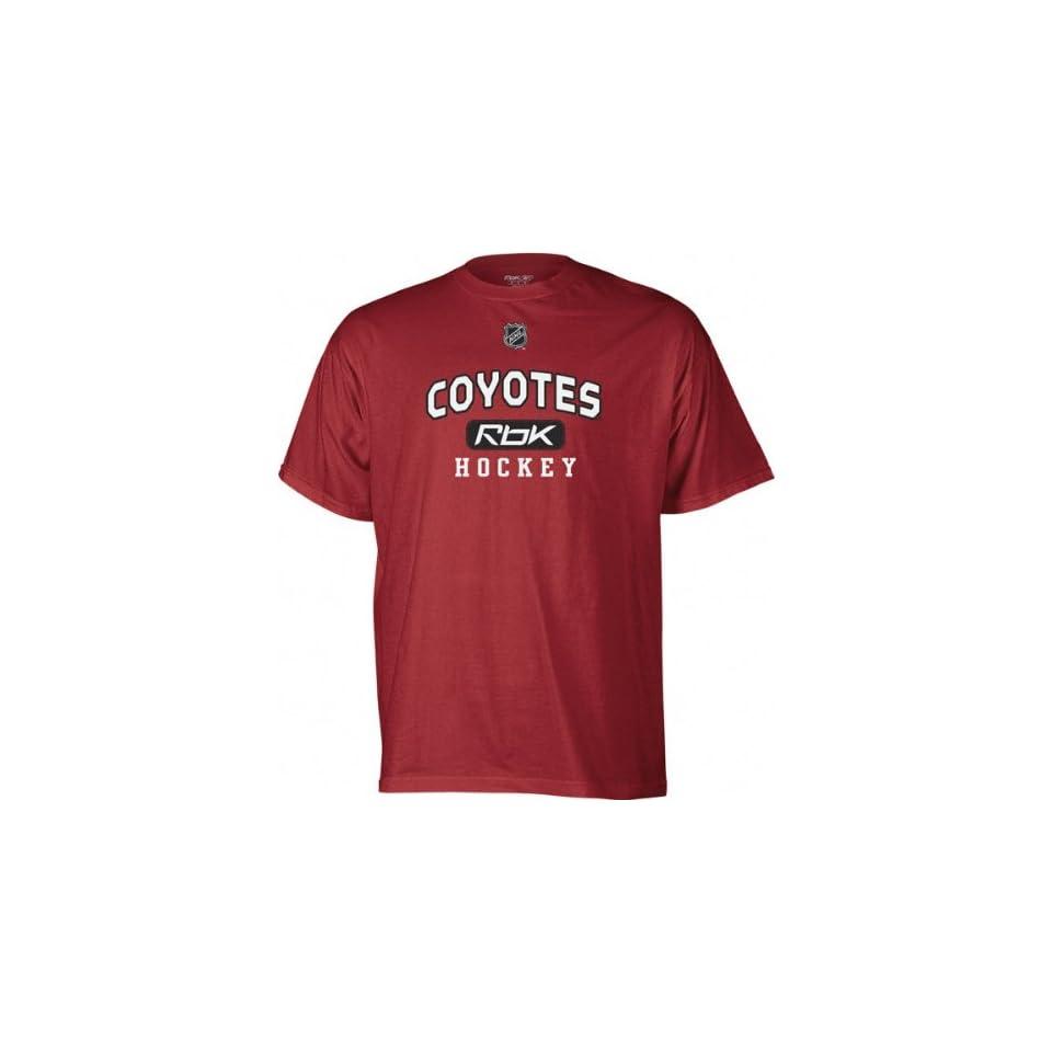 best website 50b4b 261f6 Phoenix Coyotes Burgundy Center Ice RBK Practice T Shirt