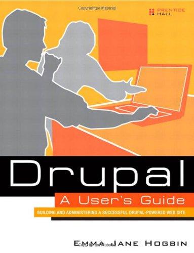 Drupal User's Guide 0137041292 pdf