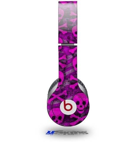 Pink Skull Bones Decal Style Skin (Fits Beats Solo Hd Headphones - Headphones Not Included)
