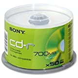 Sony CDR 48x, 80 Min., 700 MB, 50 Pack Spindleby Sony