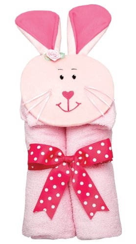 Am Pm Kids! Tubby Towel, Pink Bunny front-905283