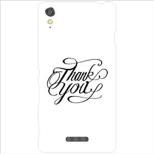 Sony Xperia T3 D5102 - Lazer Print Thank You Designer Cases