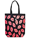 Lulu Guinness tote bag - black and red lips