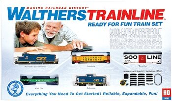 Walthers Trainline(R) HO Scale Ready-for-Fun Train Set - CSX