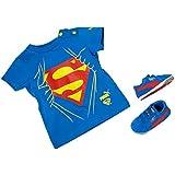 Puma Crib pack Suede Superman, Unisex Baby-Set mit T-Shirt und Krabbelschuhe