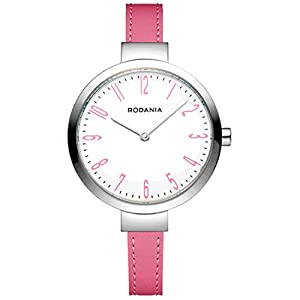RODANIA 26088-24 33mm Stainless Steel Case Pink Calfskin Mineral Women's Watch