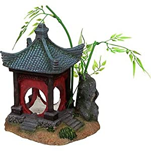 Petco asian gazebo aquatic decor aquarium for Aquatic decoration