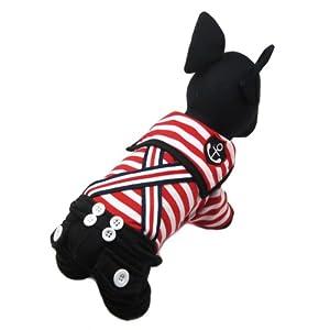 Alfie Couture Designer Pet Apparel - Adan Sailor Jumper - Color: Red, Size: XS