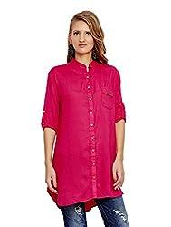 Jalebe Women's Tunic Dress_INDTJBL021_Fuchsia_L